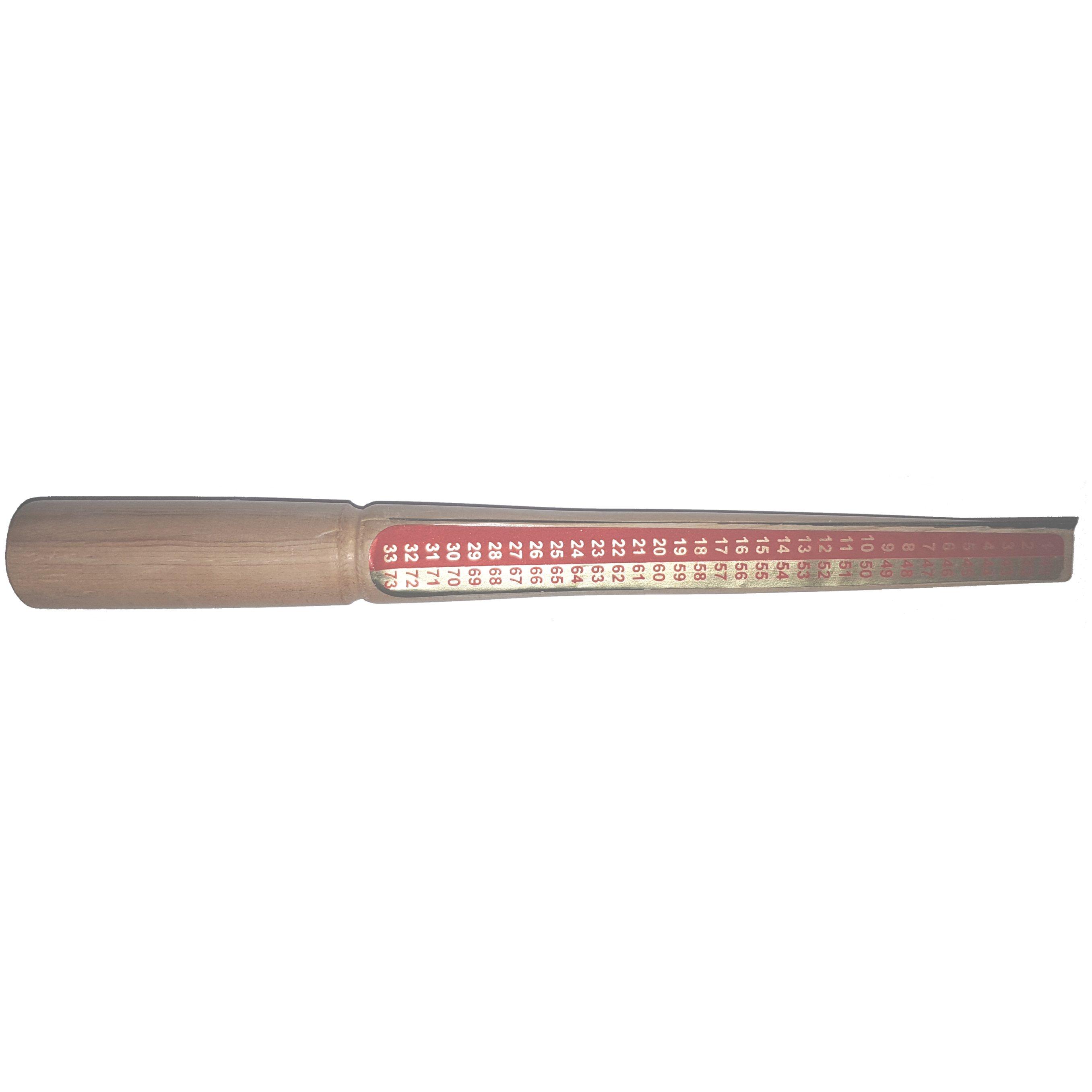 8€ Palo de medida p/anillos cera con cuchilla