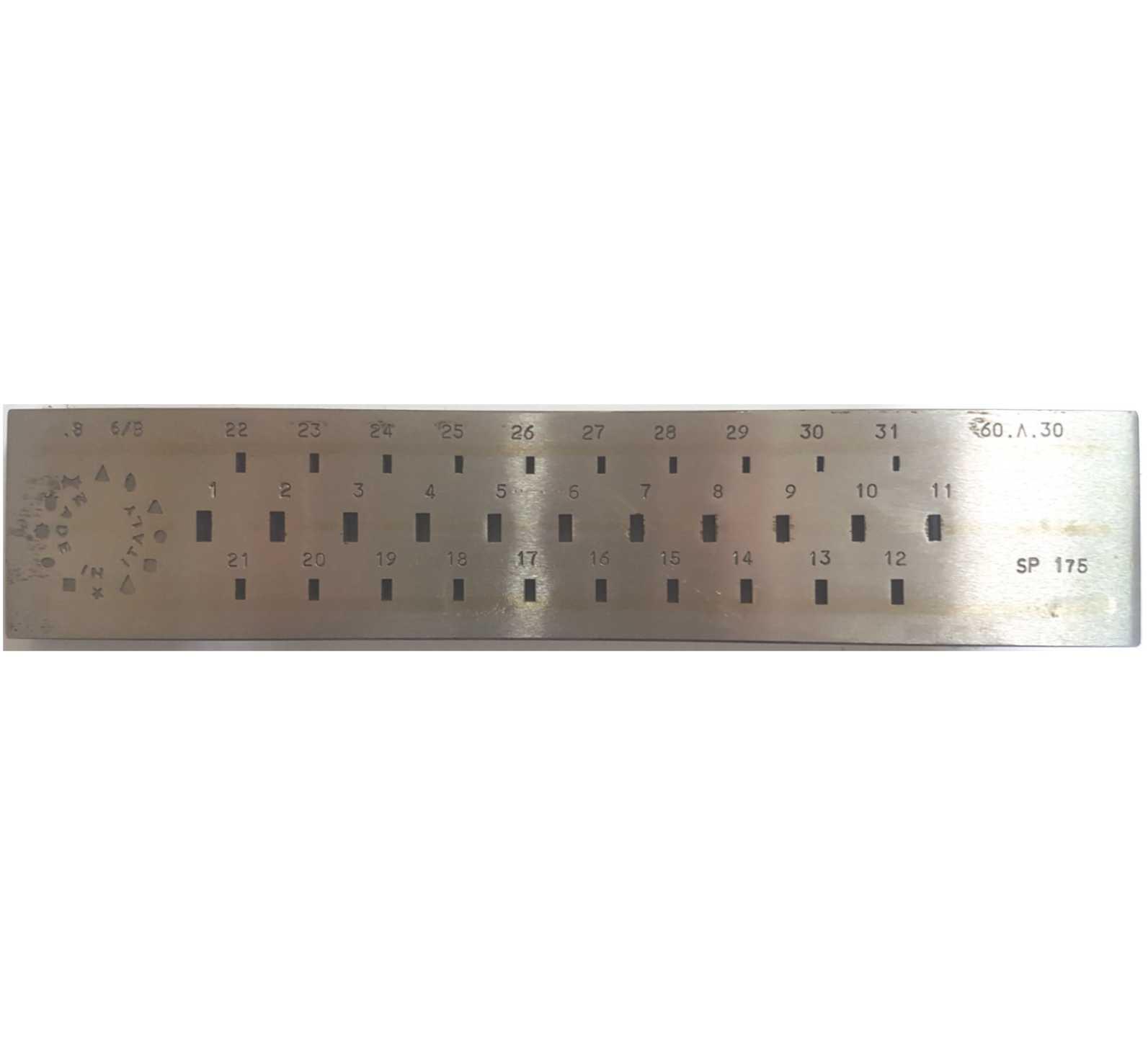 68,90€ Hilera rectangular 6 a 3mm