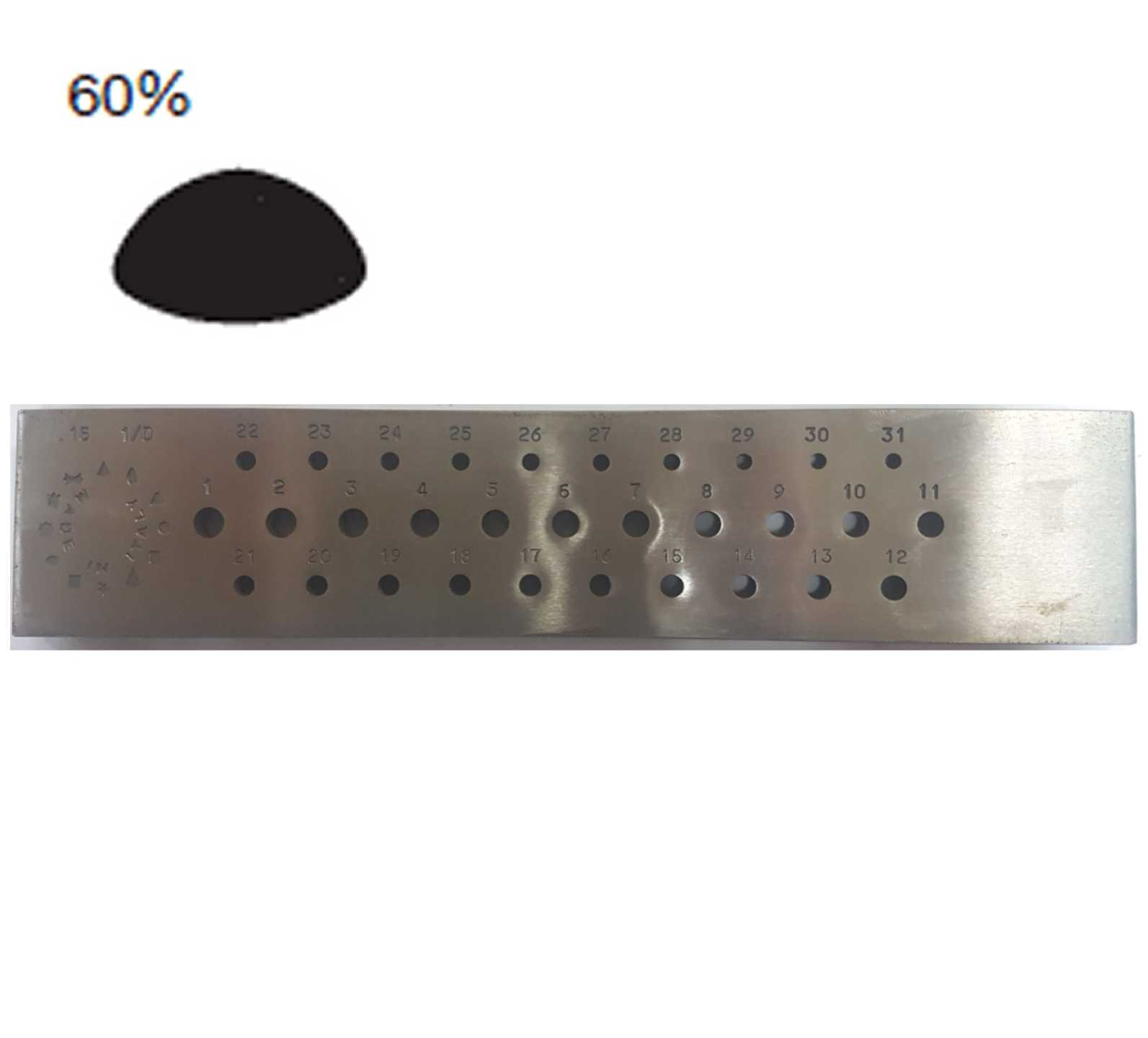 108,17€ Hilera ovalada asimetrica 6 a 3