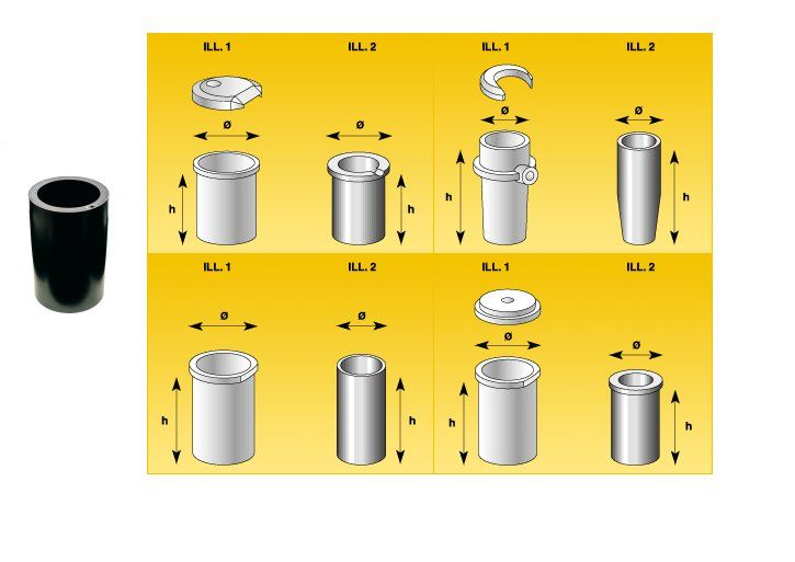 Crisoles grafito para hornos de induccion