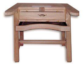 Mesa trabajo 1 puesto engastador de madera