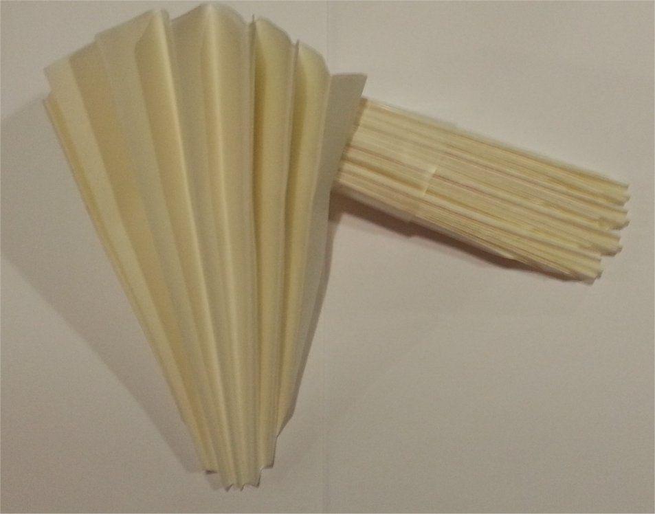 Filtros de papel plegado