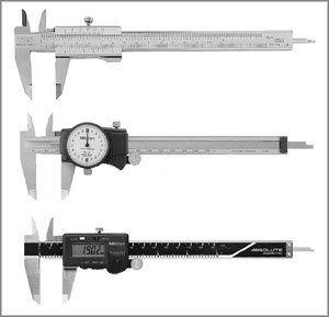 Pies de rey, calibres y micrometros